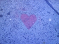 Heart painted on the pavement