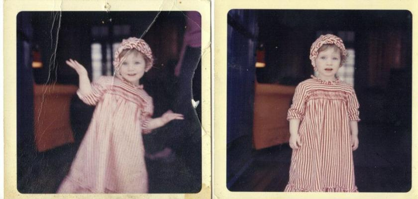 Laurie at age two - nightgown dance