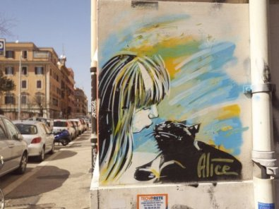 alice girl with cat