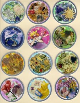 A dozen tokens - set 1