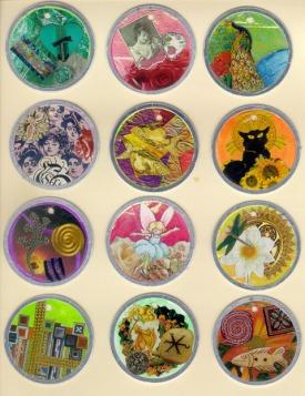A dozen tokens - set 2